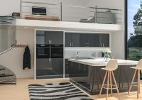 Lewes High Gloss Anthracite Kitchen Doors | Made to ...