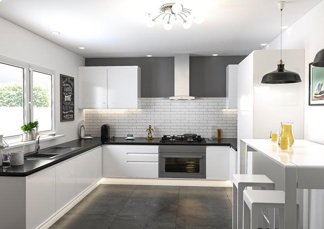 Ringmer High Gloss White Kitchen Doors