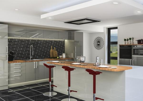 grey high gloss kitchen doors Ultragloss Storm Grey Kitchen Doors | Made to Measure from