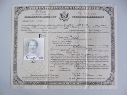 Irmgard Brill US citizenship