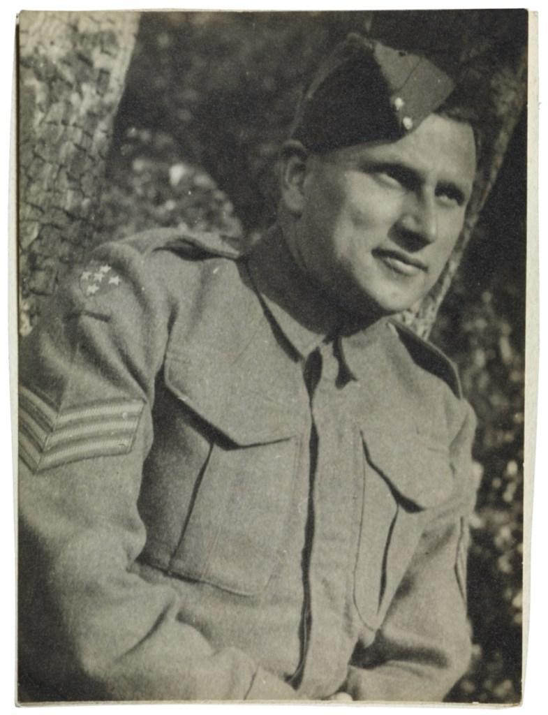 Walter Brill; in British army uniform; Second World War