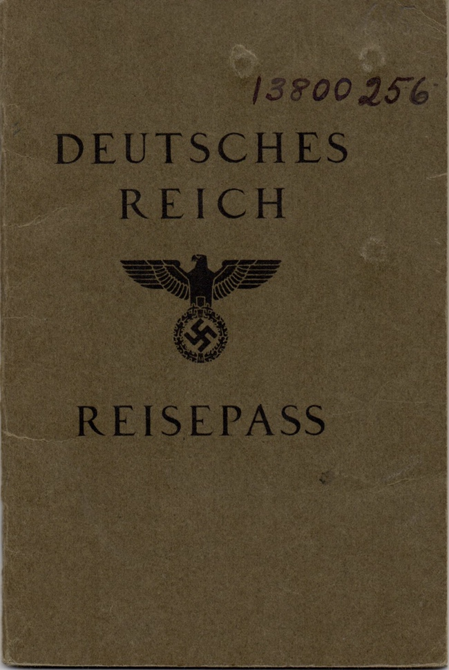 Kitchener camp, Willi Reissner, German passport