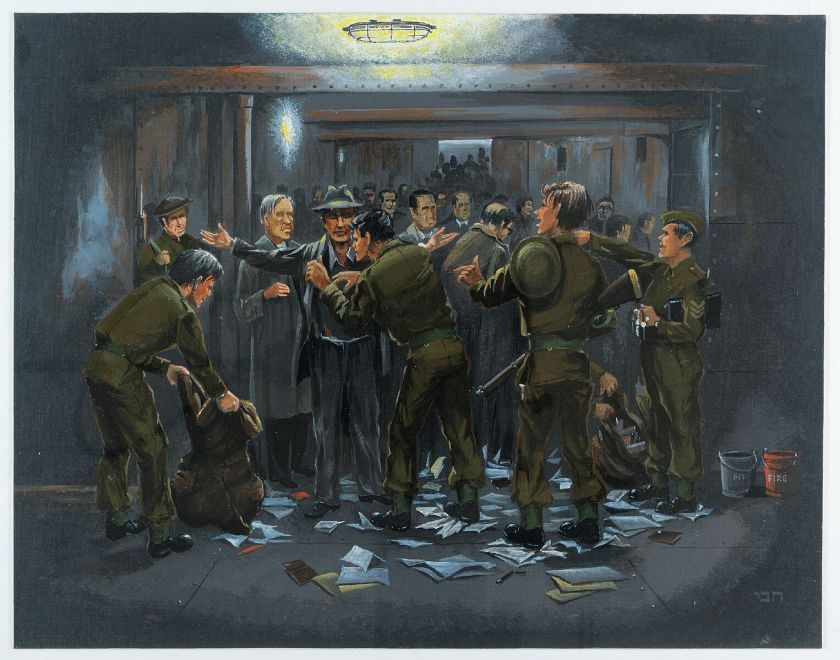 Kitchener camp, HMT Dunera, by Hans Jackson
