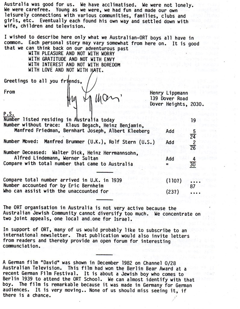 Richborough transit camp, Joachim Reissner, Berlin ORT Letter, February 1983, page 4