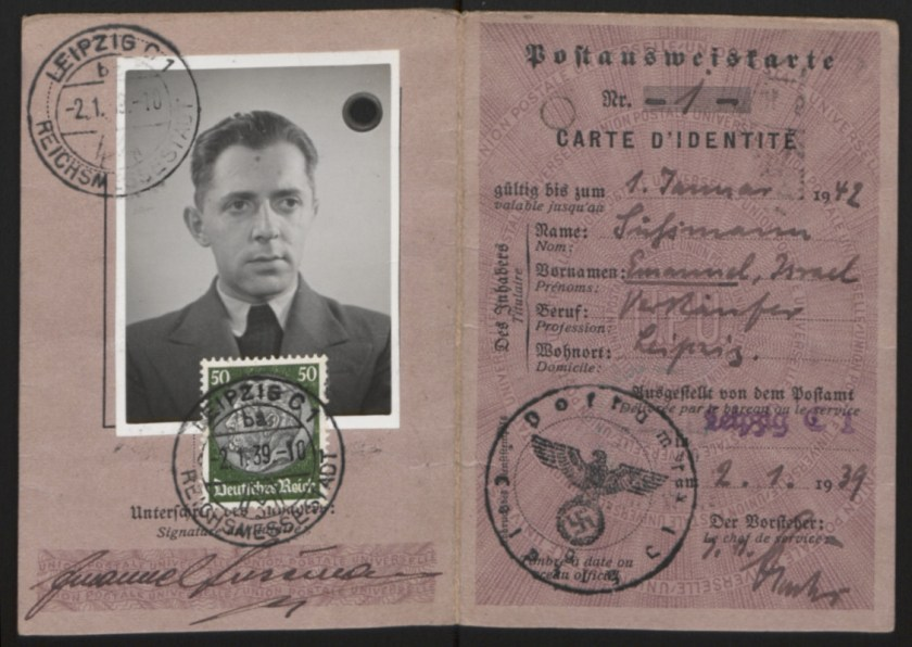 Richborough camp, Emanuel Suessmann, Identity card, 2 January 1939