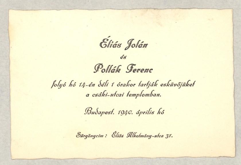 Richborough camp, Eduard Elias, Letter from Budapest to Richborough camp
