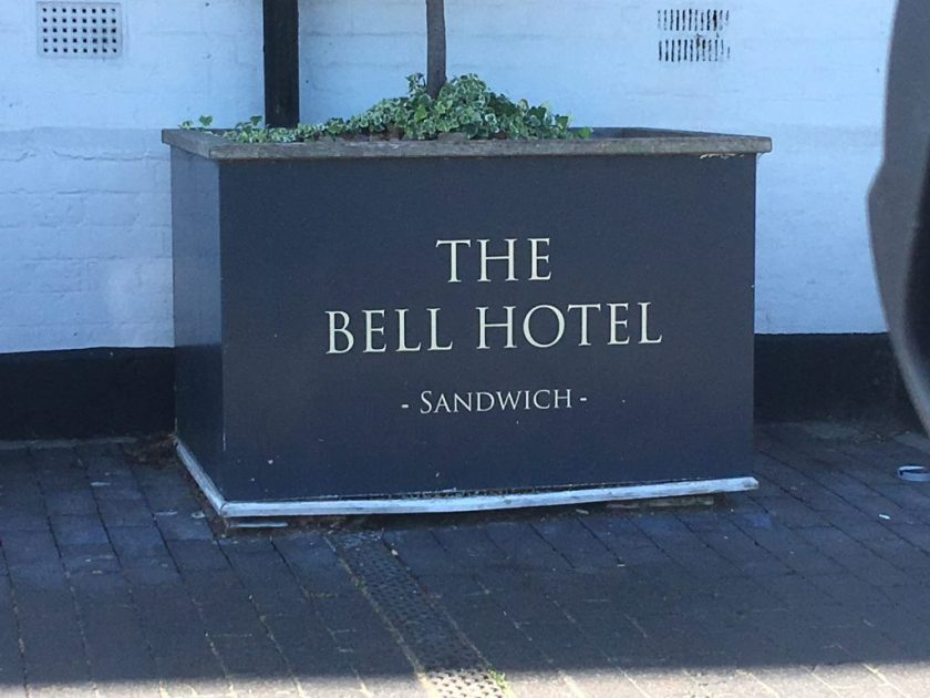 Richborough transit camp, Sandwich 2018, Phineas May diary, The Bell Hotel