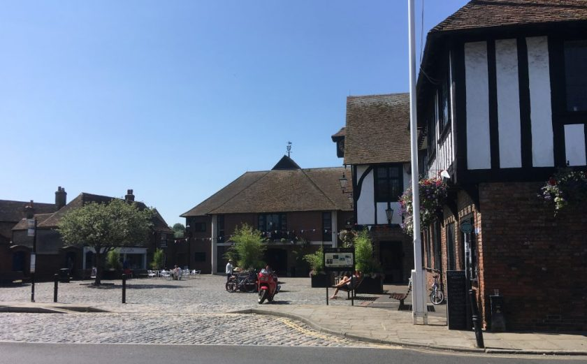 Richborough refugee transit camp, Sandwich Guildhall - now museum and town hall; site of the Chamber of Commerce, Phineas May diary