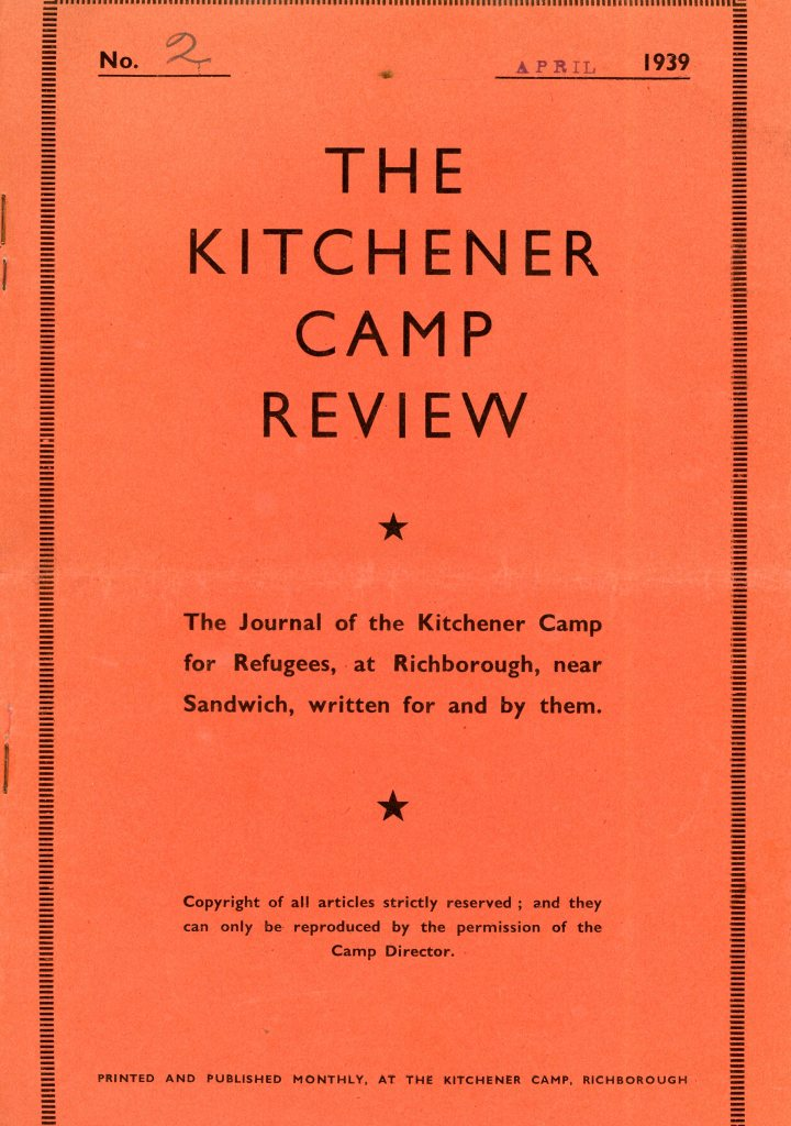 Kitchener Camp Review, April 1939, Front cover