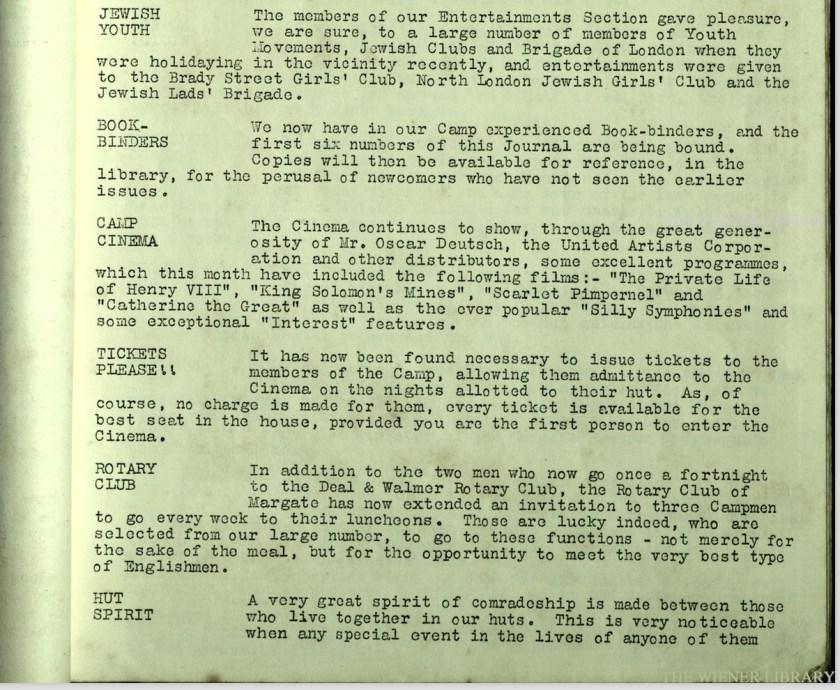 Kitchener Camp Review, no. 7, September 1939, page 2, base