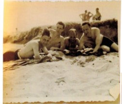 Richborough camp, 1939, Herbert Mosheim, at the beach