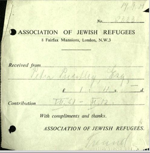 Kitchener camp, Wolfgang Priester, Association of Jewish Refugees, Fairfax Mansions, 17 September
