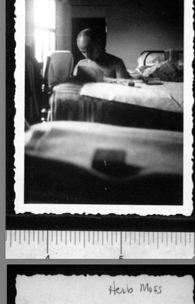Kitchener camp, Werner Gembicki, Photo, In hut, Herbert Mosheim