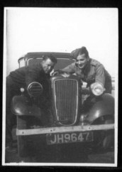 Kitchener camp, Werner Gembicki, Photo, Austin car with blackout cover on headlight