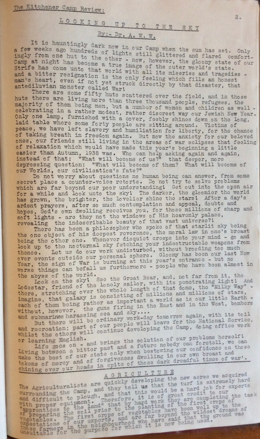 Kitchener Camp Review, October 1939, page 2
