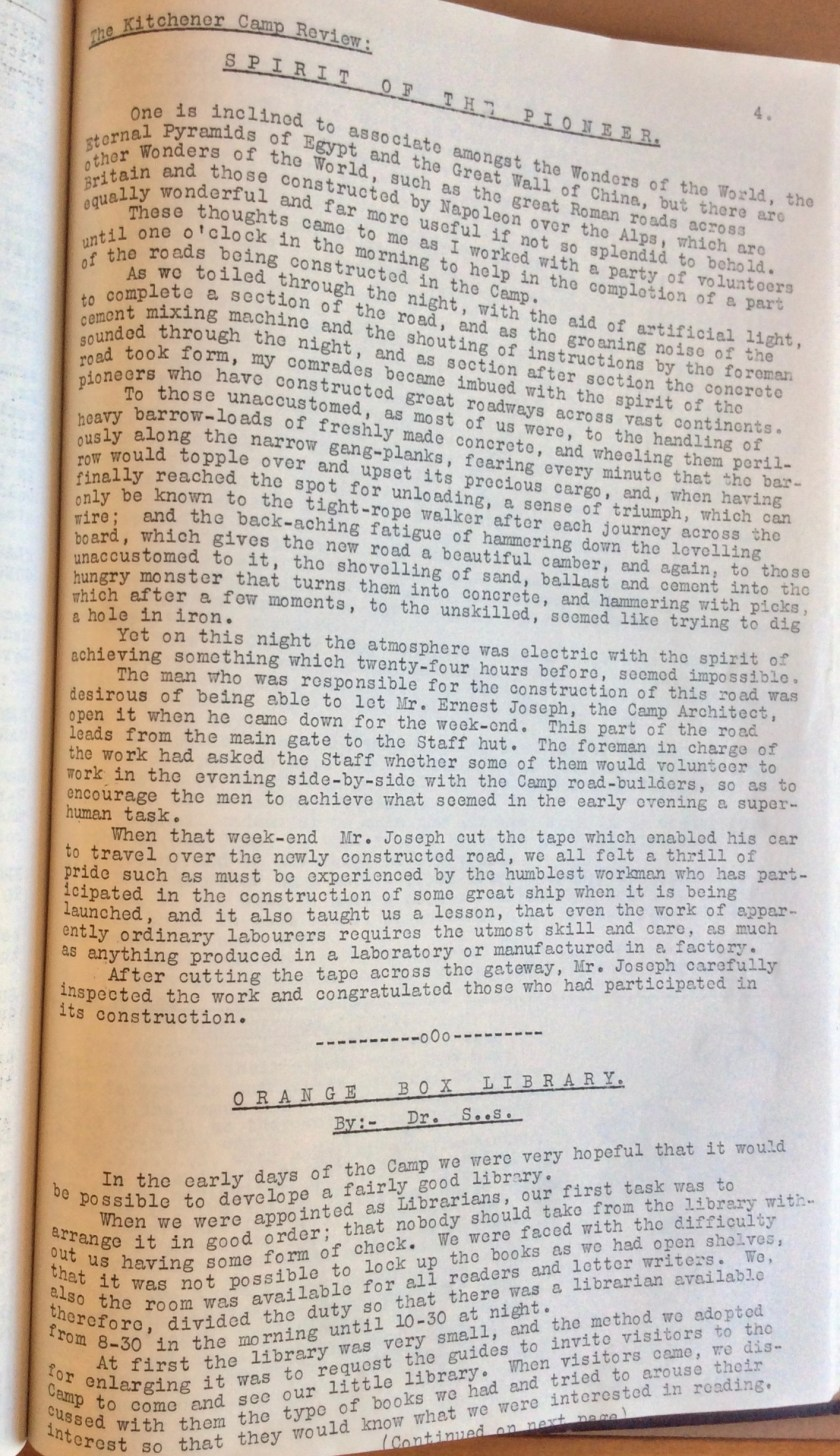 The Kitchener Camp Review, August 1939, page 4