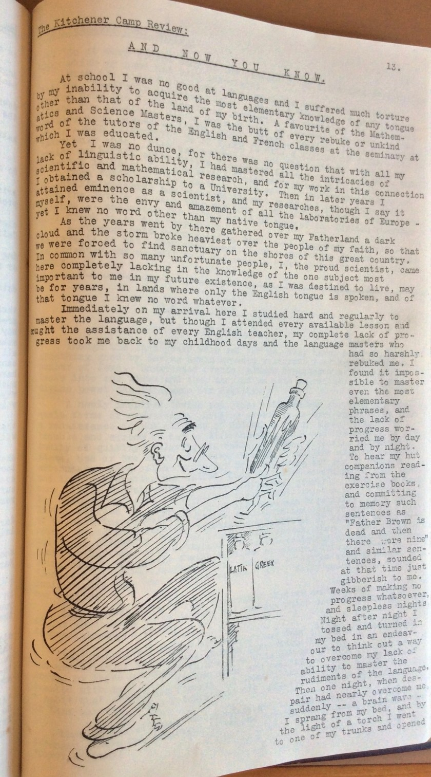 The Kitchener Camp Review, August 1939, page 13
