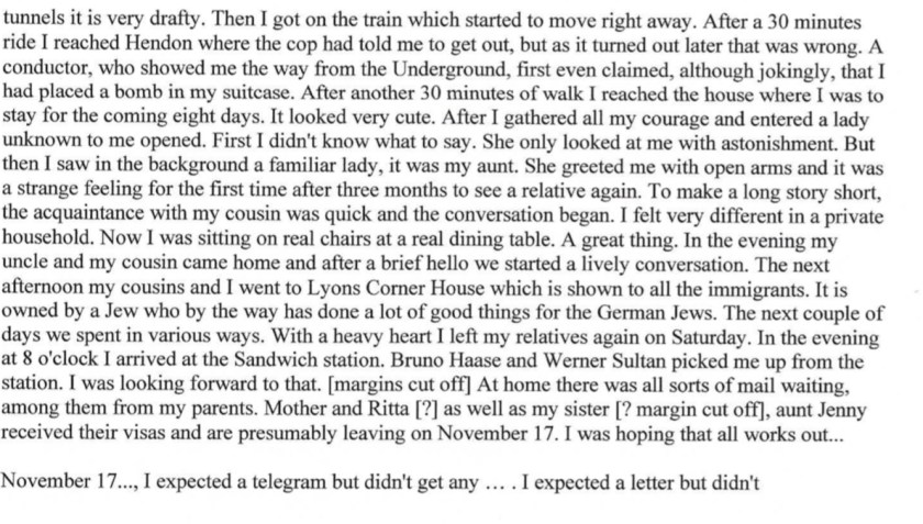 Kitchener camp, Diary, Gerhard Wolf, Berlin ORT, page 6