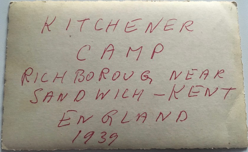 Kitchener camp, Jakob Lengel, 1939