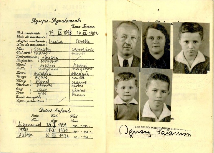 Kitchener camp, Ignatz Salamon, Polish passport, Stamped London, Polish Consulate, 3 September 1942