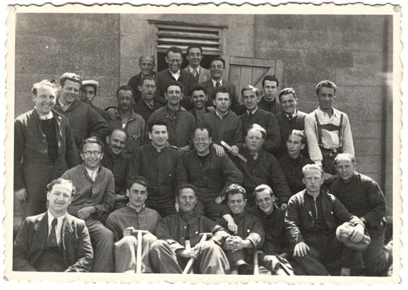 Richborough transit camp, 1939 - Herbert Weiss - group photograph