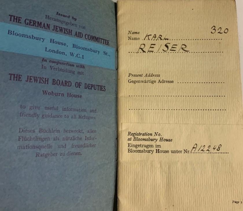 Karl Reiser, German Jewish Aid Committee