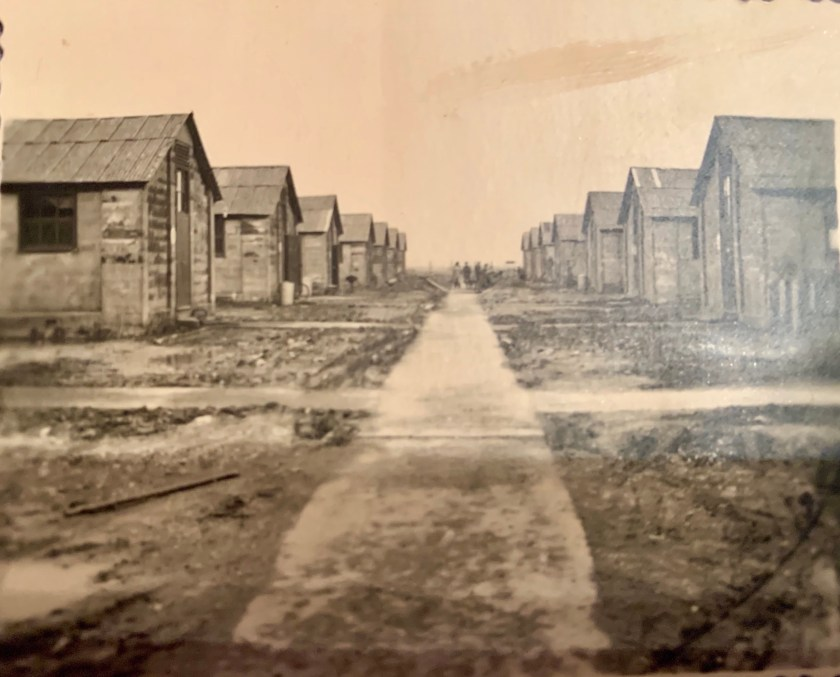 Kitchener camp, Oscar Reininger, derelict huts, early 1939