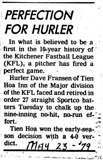 Kitchener Fastball League