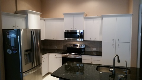 cherry wood kitchen island hansgrohe allegro e faucet cabinet refacing pictures before & after | facelifts