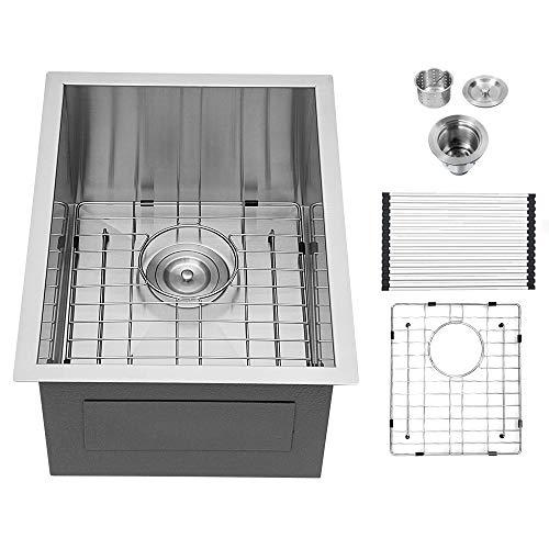 13 bar sink undermount logmey 13 x 15 inch bar prep sink undermount single bowl 18 gauge stainless steel kitchen sink