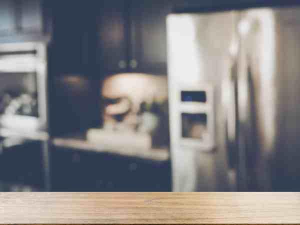 52265557 – blurred modern kitchen with retro style filter