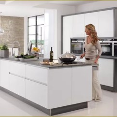 Kitchen Matt Painted Tables White In A Contemporary True Handleless Style
