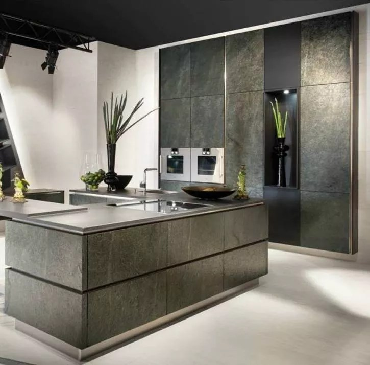 natural wood kitchen cabinets how to build a island german brand launches stunning stone veneer