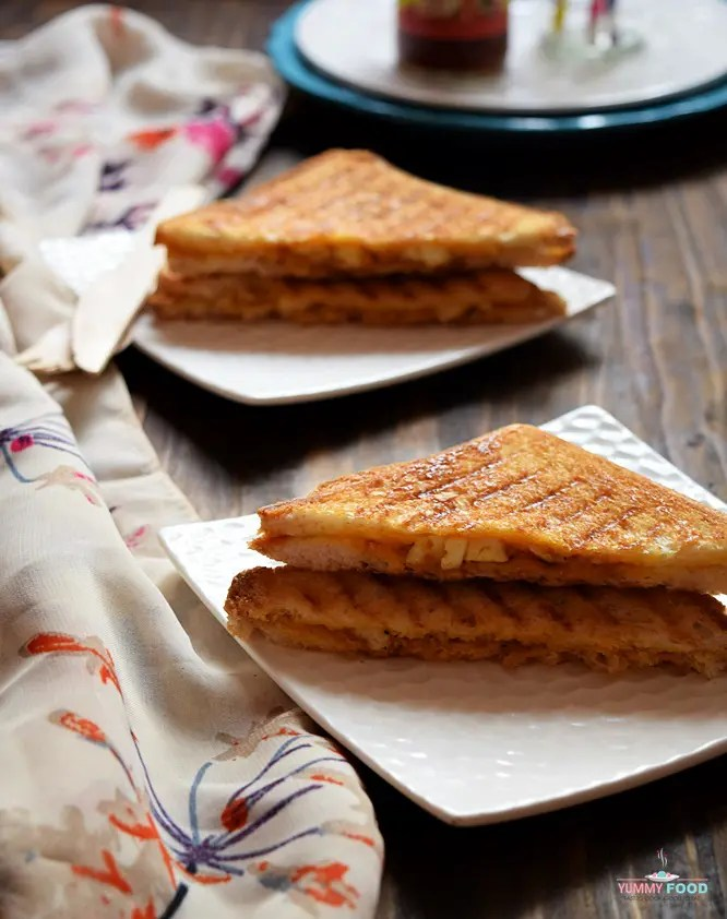 Curried Paneer Grilled Sandwiches