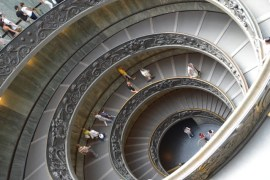 Vatican Museum staircase, rome