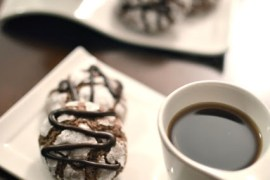 chocolate peppermint crinkle cookies