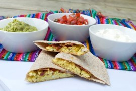 breakfast quesadilla via kitchen frolic