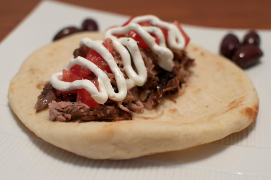 pulled pork pita via kitchen frolic