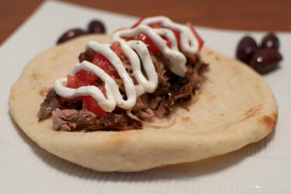 pulled pork pita via kitchen frolic
