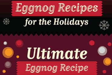 Eggnog recipes infographic