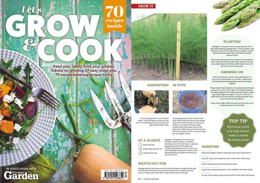 An image of the front and back cover of Let's Grow and Cook book.