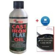 KitCast Natural Cast Iron Flax Oil with Free eBook
