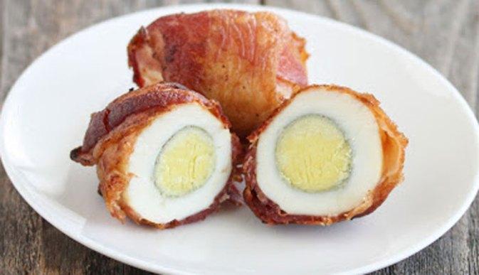 baked bacon eggs