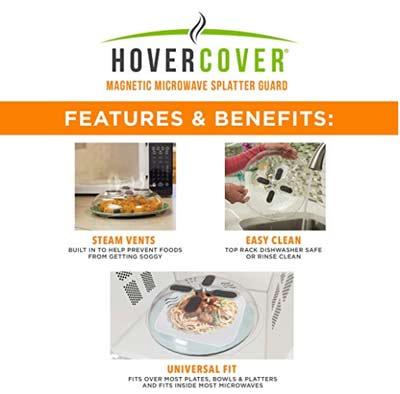 Hover Cover Magnetic Microwave Splatter Lid