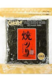 Daechun Sushi Nori (50 Full Sheets) Resealable Gold-Grade Product of Korea