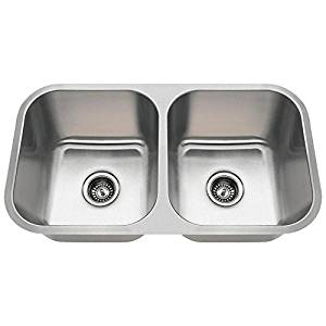 best kitchen sink ice maker top 15 sinks in 2019 complete guide with an 3218a 18 gauge undermount equal double bowl stainless steel