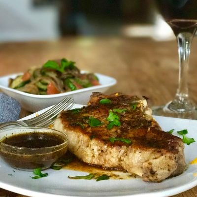 Pan Seared Pork Chops with Mojo Sauce