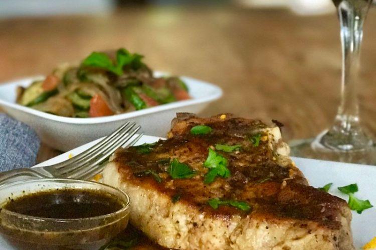 Pan Seared Pork Chops with Mojo Sauce