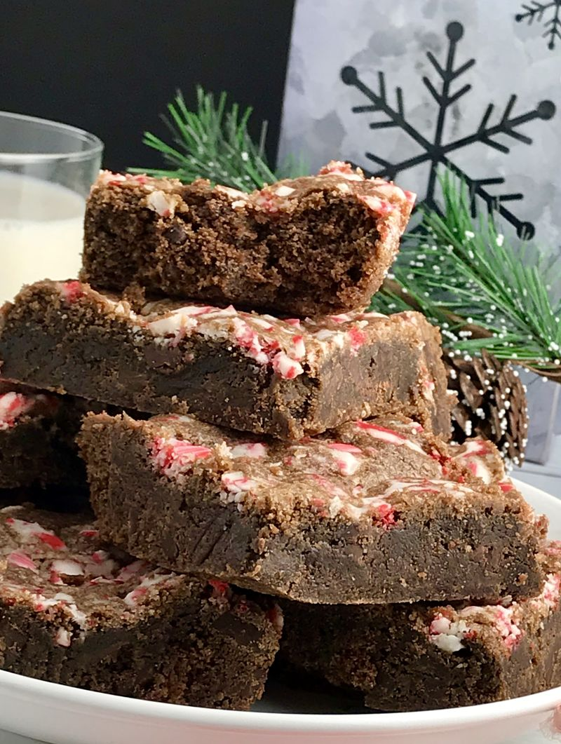 Easy Chocolate Chocolate Chunk Peppermint Cookie Bars