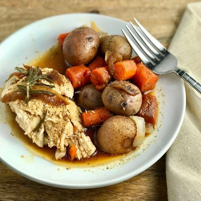 Instant Pot Whole Rosemary Chicken and Vegetables